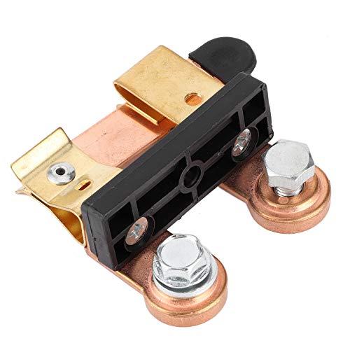 DEWIN Interruptor de desconexión de la batería, Hierro + latón Macizo Interruptor de desconexión de la batería Apagado Antideslizante con Accesorio de modificación de Tornillo