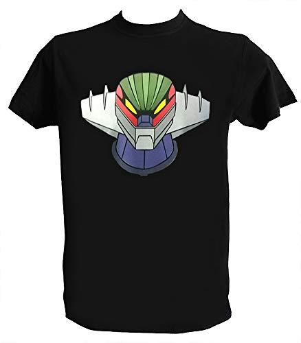 Generico T Shirt Jeeg Robot d'Acciaio Uomo Bambino Maglietta Robot Anime Manga Anni 80 Go Nagai, Uomo - 2XL