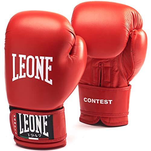 LEONE 1947 (LEORC) Contest Boxhandschuhe, Unisex - Erwachsene, Rot, 10OZ