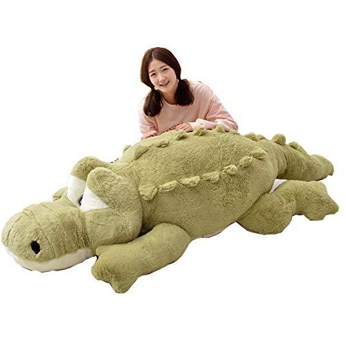 YunNasi Krokodil Kuscheltiere XXL Riesen Pluschtier süße Geschenk für Geburtstag Valentinstag Muttertag (grün 160cm)