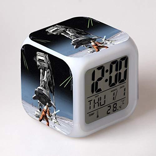TYWFIOAV Luz táctil Reloj Despertador LED Juguetes de Anime Pasatiempos Niños Juguetes de Navidad Películas Personajes de TV