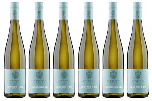 6x 0,75l - 2018er - Weingut Steitz - Sauvignon Blanc - Rheinhessen - Deutschland - Weißwein trocken