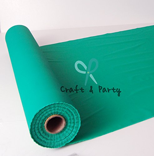 "Craft and Party Plastic Banquet Table Roll 40"" x 100 ft. (Emerald Green)"
