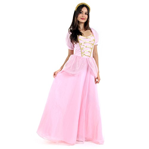 Princesa Adulto Sulamericana Fantasias Rosa PP 36