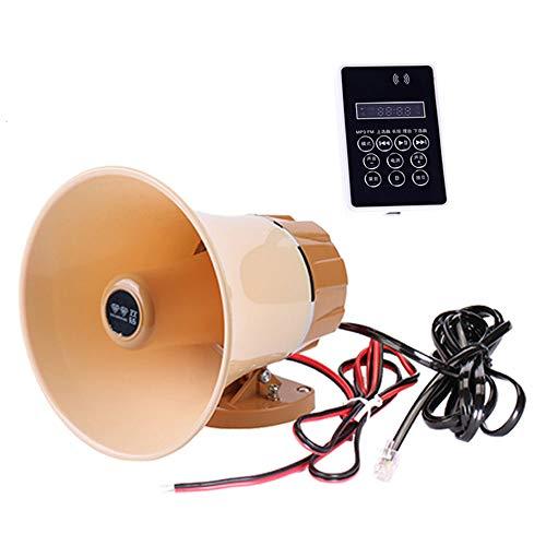 lifepower 車載拡声器 液晶搭載 防水 耐久性 スピーカー&アンプセット 12-60V汎用 マイク内蔵 録音/再生 microSDカード USBメモリー対応 120秒録音機能付 mp3音源再生