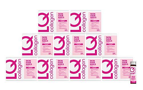 LQ Collagen Skin Hair Nails Max - 7000mg Marine Collagen, Hyaluronic Acid, Biotin and Selenium - Health & Beauty Supplement - Daily Liquid Shot (50ml x 90 Days)