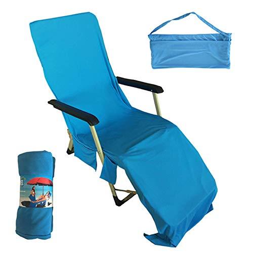 Telo Mare Microfibra, Portatile Asciugamano Mare - Asciugatura Veloce/ Più Tasche/ Ultra Absorbent/ Leggero, Ideale per Asciugamano Sportivo, Asciugamano da Viaggio, Asciugamano da Bagno, 75 * 210CM