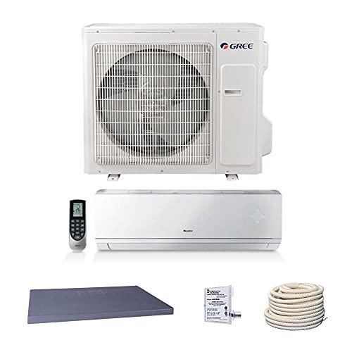 GREE 36,000 BTU 18 SEER Vireo+ Wall Mount Ductless Mini Split Air Conditioner Heat Pump 208/230V - Comfort Value Kit