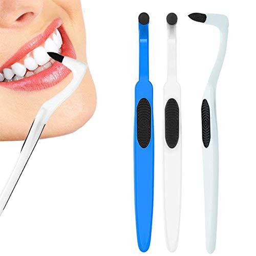 ZXFD Zahnsteinentferner, Zahnfleckenradierer, Zahnplaqueentferner, Zahnreinigungsset, Zahnpolieren, entfernt Plaque & Verunreinigungen für weiße Zähne, 3 Stück
