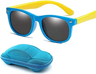 Kids Fashion Durable Polarized Sunglasses Soft Flexible Rubber for Boys and Girls with Cool Case
