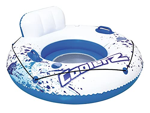 5665 Flotador Inflable para Piscina, Hamaca Flotante Multiusos para Salón en La Piscina, para Fiestas Acuáticas y Recreación Acuática,con Portabebidas Muy Profundos, Ideal para Adultos y Niños