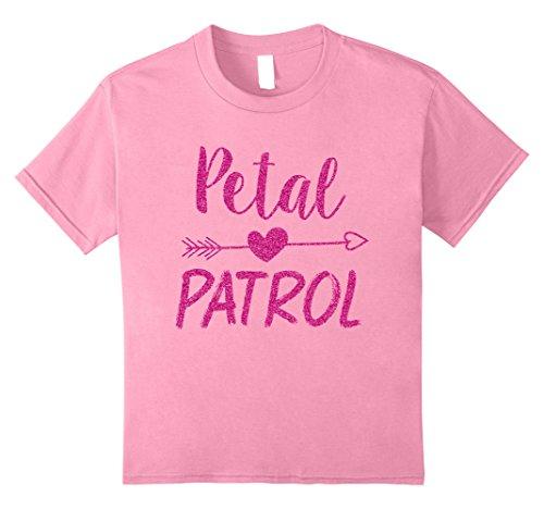 Kids Petal Patrol Shirt Flower Cute Wedding Girl T-Shirt Ring Tee 8 Pink