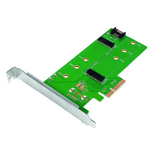 LogiLink PC0083 - Adaptador Dual M.2 (NGFF) PCIe SATA SSD a SATA (SATA III 6 Gbps) y PCIe (PCIe 3.0 x4)