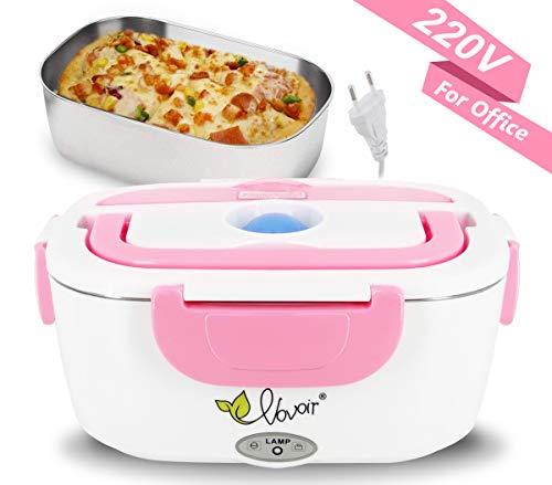 comida térmico Lunch Box Fiambreras bento EU-enchufe eléctrica con Bandeja extraíble acero inoxidable,Recipiente de comida térmico 220V 40W