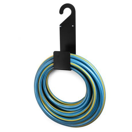 katoochy Best Black Garden Hose Holder Wall Mounted-Durable, Very Powerful Hanger it can Hold 100ft Heavy Hose -Keep Your Backyard Neat and Cleaned