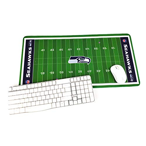"TRIPRO NFL Football Field Design Large Gaming Mouse Pad XXL Extended Mat Desk Pad Mousepad,Size 23.6""x11.8"",Water-Resistant,Non-Slip Base,for NFL Fans Gifts (Seattle Seahawks)"