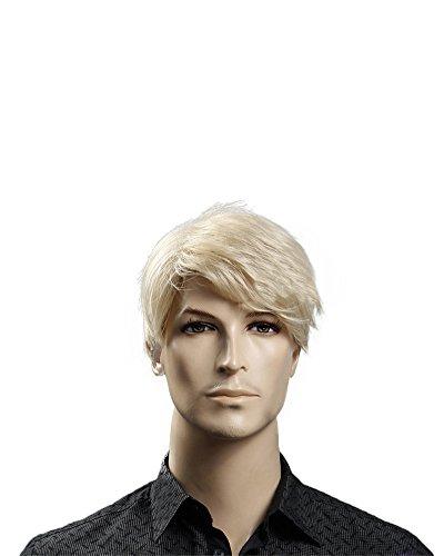 """Kalyss 12"""" kurze gerade männliche blonde Perücke hitzebeständige synthetische Perücke Haar(Blond)"""