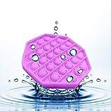 Pousser Pop Pop Bubble Sensory Fidget Toy - Jouet Anti-Stress en Silicone pour Besoins Spéciaux d'autisme, Jouet Sensoriel à Presser (Violet)