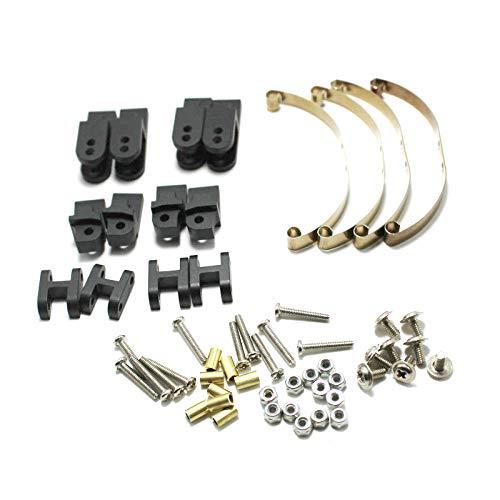 Dasorende Conjunto de Suspensión de Ballesta de Acero para Wpl Henglong B14 B16 B24 B36 Ural Q65 4X4 6X6 RC Truck Crawler, Negro