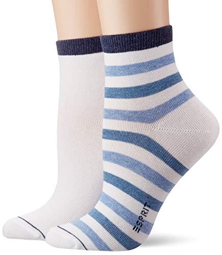 ESPRIT Damen Colorful Stripe W SO Socken, Weiß (White 2000), 39-42 (UK 5.5-8 Ι US 8-10.5)