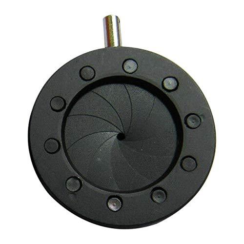 Manuell einstellbare Blende Dimmer Punktregler Mechanische Blende einstellbare Blende für Laser-Mikroskop-Kamera (Farbe: Schwarz-SK8)