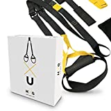 JOWY Suspension Trainer o Training con Correas Ajustables de Carga hasta 500kg es...