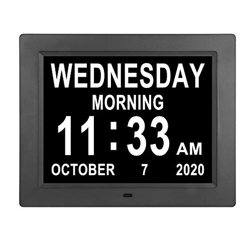 8.4 Inch Digital Day Clocks Auto Dimming Extra Large Day Date Time Dementia Calendar Clock Perfect for Seniors Elderly Alzheimer Vision Impaired