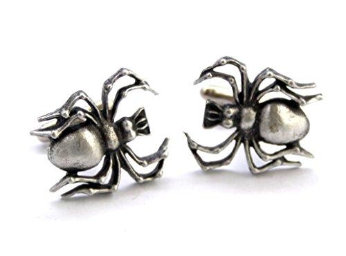 Spider Hoardersworld Par bouton de manchette en étain anglais fait à la main avec coffret cadeau.