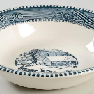 Currier and Ives Blue Coupe Cereal Bowl by Royal (USA) | Replacements, Ltd.