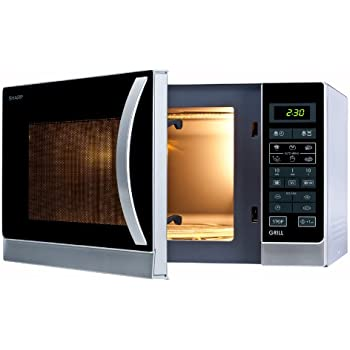 Sharp R-742(IN) W Microondas Grill 25L, Control Tactíl, 1000W, 900 W, 25 litros, Plateado: Sharp: Amazon.es: Hogar