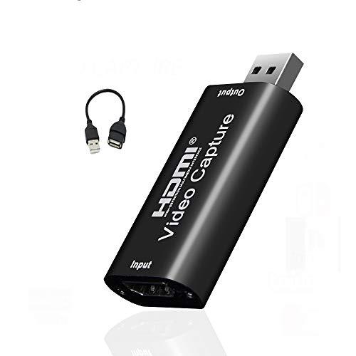 Idealforce Video-Capture Karte, HDMI zu USB Capture Card USB 2.0 1080P HD Recorder Spiel/Video/Live/Facebook Streaming