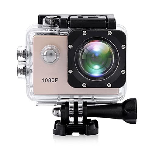 Action Camera, 1080P 12MP HD WIFI Telecamera sportiva Impermeabile 30M Touch Screen da 2 pollici con Accessori per Vlogging, Immersioni,...