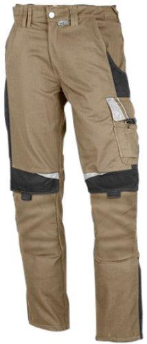PKA Bundhose Bestwork, robuste Arbeitshose mit vielen Taschen(Khaki/Schwarz, 24)