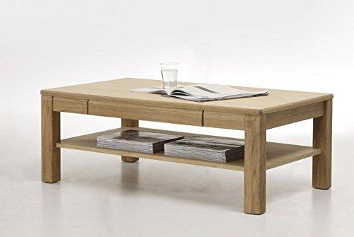 Dreams4Home Couchtisch massiv 'Yascha' Eiche Bianco Tisch Wohnzimmertisch Beistelltisch Massivholz Breite 115 cm, aufgebaut