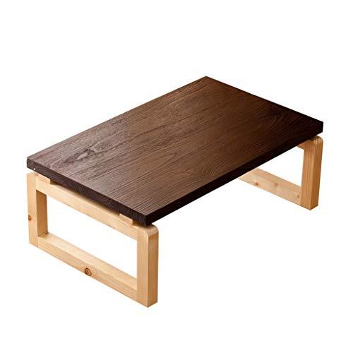 Tables Basses Mini Chambre À Coucher Basse Tatami Basse Salon Brun Petite Balcon Japonais Baie Vitrée Petit Bureau Maison Pliante en Bois Massif Basses