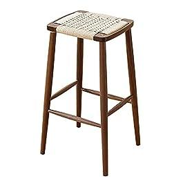Chaise de bar Tabouret de bar en rotin marron Décoration d'intérieur Tabourets de bar en osier en rotin Chaise en rotin…
