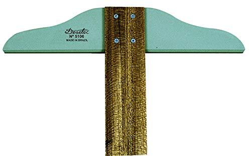 Régua T de 60 cm, Trident, 5106, Madeira, 60 cm