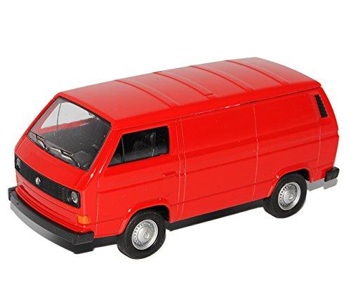 Welly Volkwagen T3 Transporter Kasten Rot 1979-1992 ca 1/43 1/36-1/46 Modell Auto