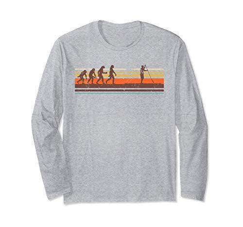 SUP ヴィンテージ エボリューション ギフト スタンドアップパドリング 長袖Tシャツ