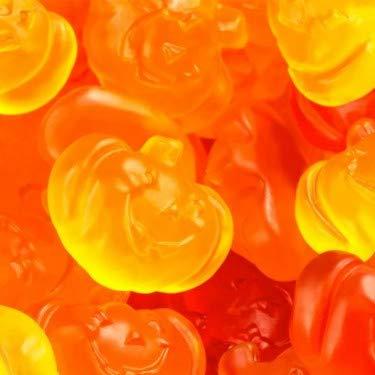Albanese Fall Gummy Pumpkins -- 1 LB Standup Candy Bag - Pumpkin Shaped Gummies - Lemon and Wild Cherry Flavored - Autumn Candies - Bulk Halloween Candy for Parties