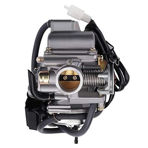 Alibrelo 24mm Carburetor GY6 for 125cc 150cc 152QMJ 157QMJ 157QMI 152QMI 4 Stroke Engines Scooter Motorcycle ATV Go Kart Moped UTV 4 Wheeler Kymco Taotao PD24J Carb