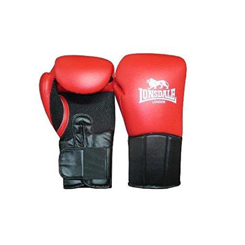 Lonsdale Performer Guantes de Boxeo, Todo el año, Unisex, Color Rot/Schwarz, tamaño...