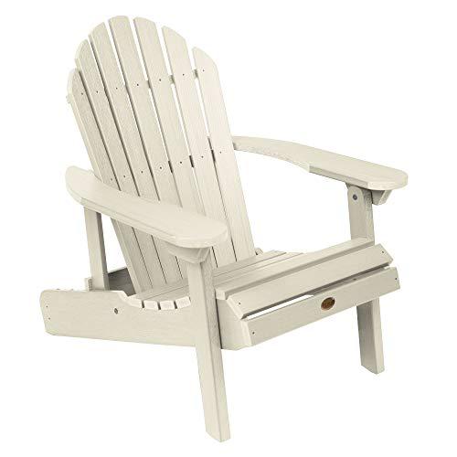 Highwood AD-CHL1-WAE Hamilton Made in the USA Adirondack Chair, Adult Size, Whitewash