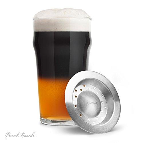 Final Touch Black & Tan Beer Layering Tool Bierwerkzeug - Edelstahl - Passt auf Ihre Glas Bier unterschiedlicher Dichten wie Pale Ale, Lager und Stout Schicht