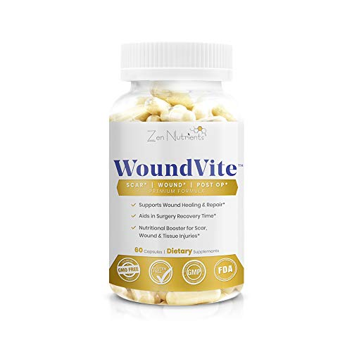 Woundvite, Scar and Wound Care, Wound Healing, Surgery Recovery, Scar Removal, Post Surgery Scar Treatment, 60 Capsules – Zen Nutrients