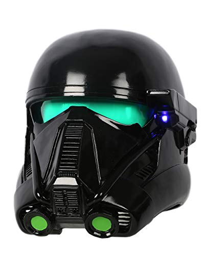Rogue Troopers Cosplay Helmet Deluxe Black Soft Resin Teens Mask LEDs Halloween Accessory