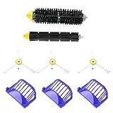 Panamar 3 uds Cepillo de Repuesto de Robots de Limpieza de Esquinas 3 uds Filtro Limpiador un Juego de cepillos rodantes para Roomba 620630650660-blanco y Amarillo