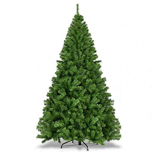 Homeura PVC Artificial Christmas Trees Premium Hinged-7.5', Premium Spruce Artificial Holiday Christmas Trees for Home, Green