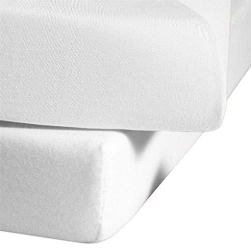 Fleuresse 1115-1000 Lenzuolo con Angoli Elasticizzati, 100% Cotone, 100x220 cm, Colore: Bianco