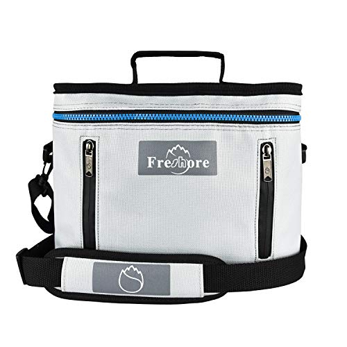 Freshore bolsa de refrigerador con aislamiento de almuerzo para hombres de caja reutilizable bolsas(Gris claro)